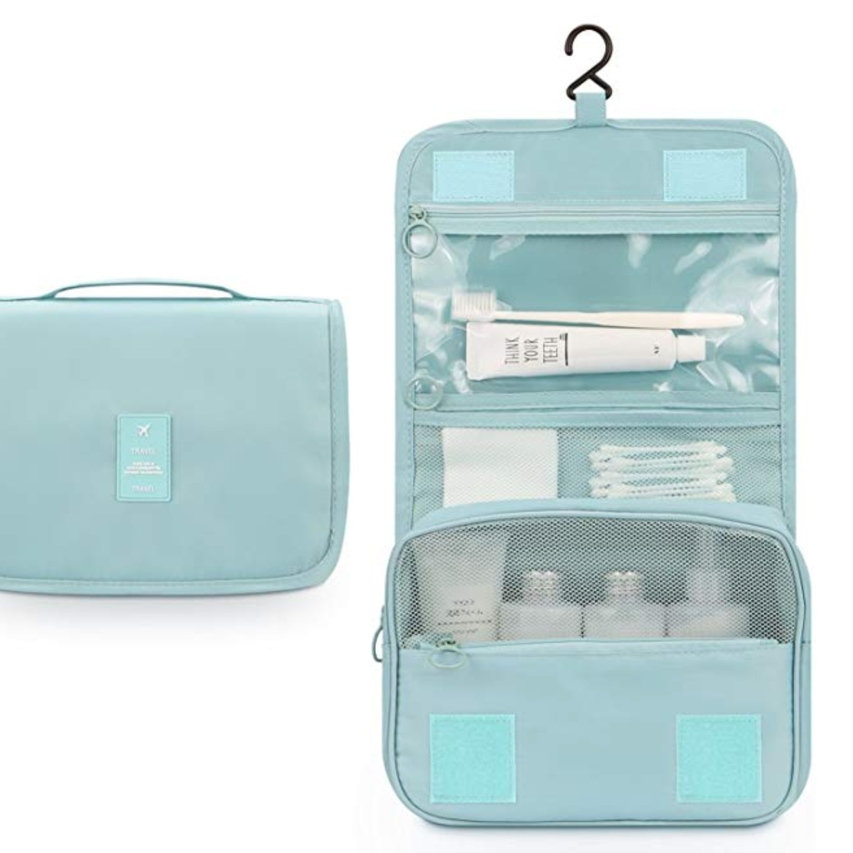 Amazon sells a variety of toiletries bags just like  this one .