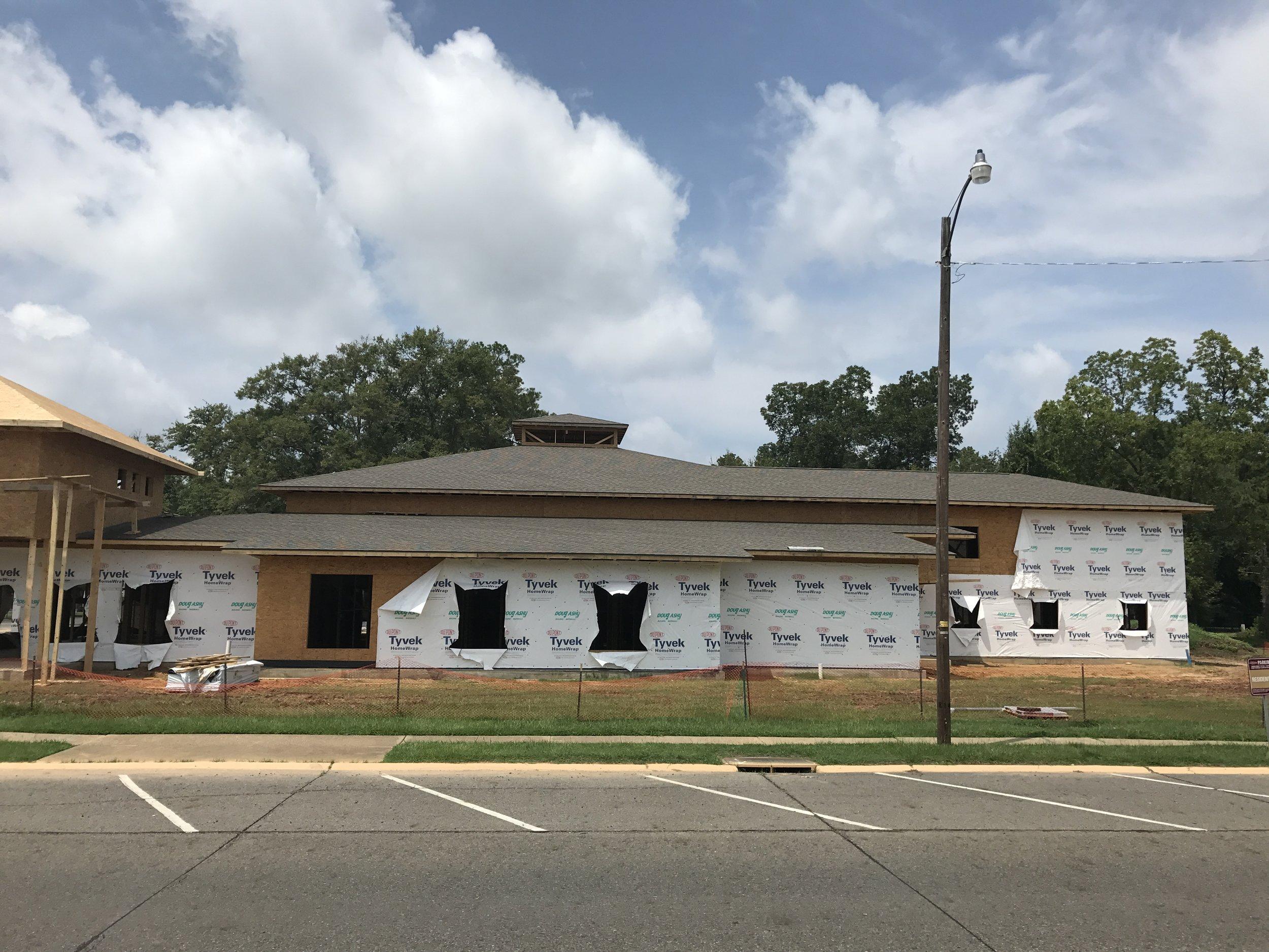 Progress of building August 2017.