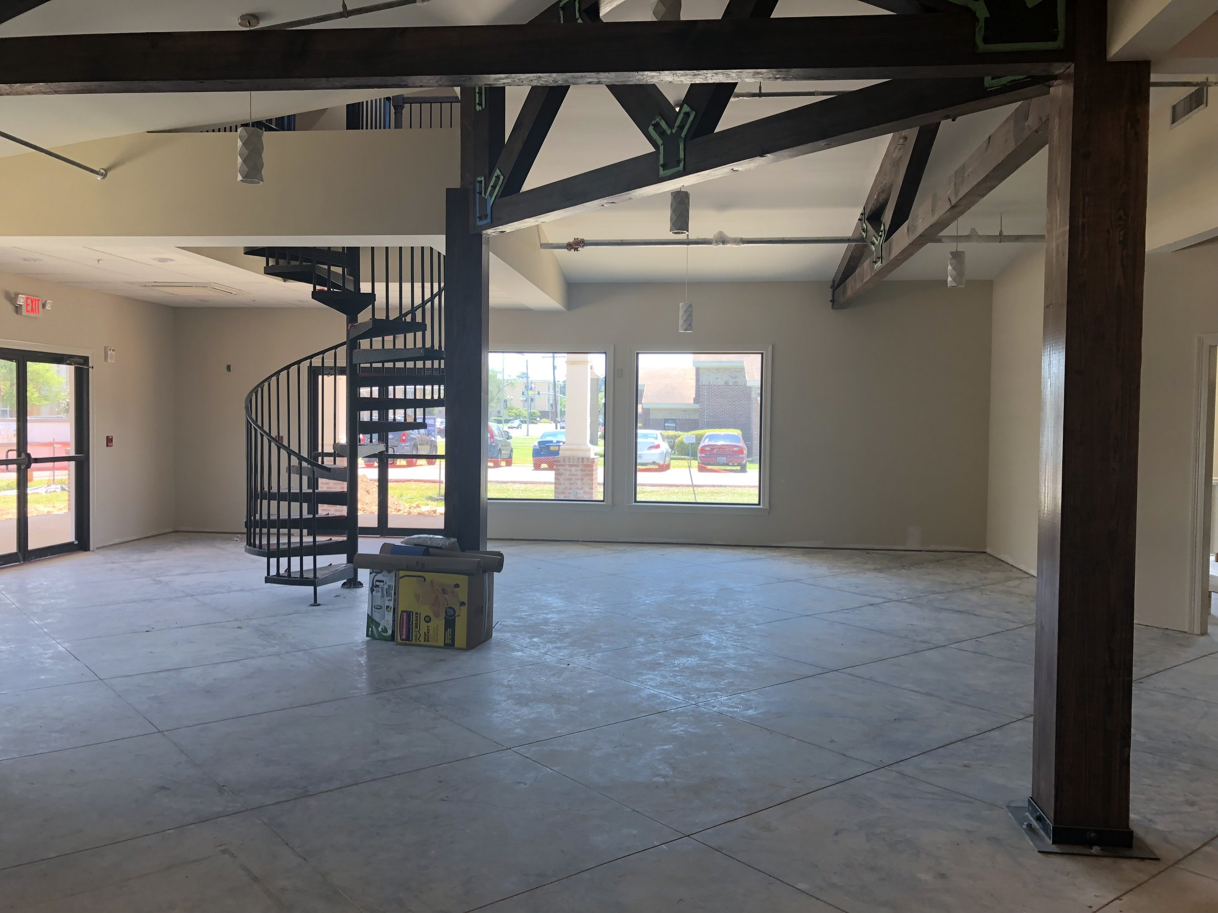 Lobby and Spiral Stairs to Office May 2018