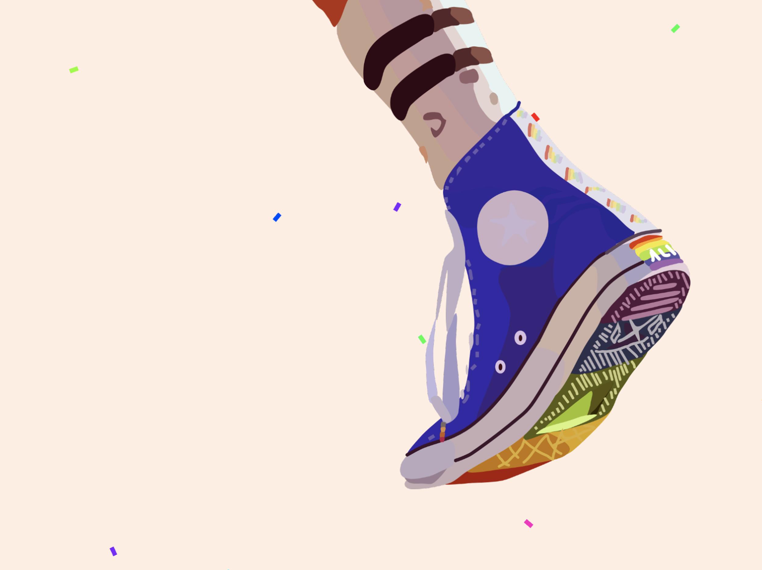 Pride Converse Blockshade by  TheOnceler-