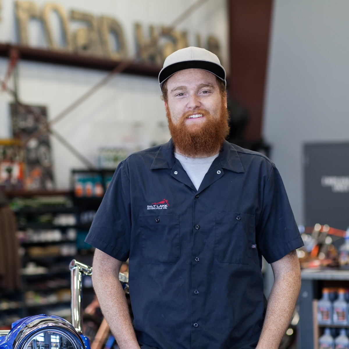 Tristian Smith - Tristian Smith works on the Salt Lake Moto team as a Service Technician. When Tristian finished school, he was looking for a shop that does things the right way and the internet led him to our shop.Tristian loves the variety of working on and test riding all types of bikes at the shop. Tristian—a Salt Lake City native—says his favorite part of working at Salt Lake Moto is working with Tom and Chris.Tristian's motorcycles: Sportster 1200 and a KTM for the dirt