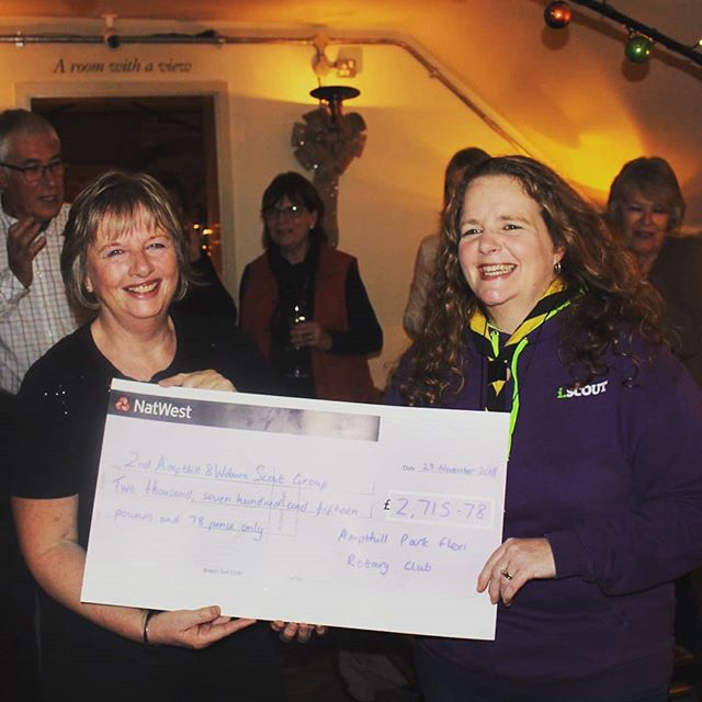 One of the best things about our club is the pleasure of supporting local causes #ampthillflexi #ampthillscouts #fundraising #weareforcommunities