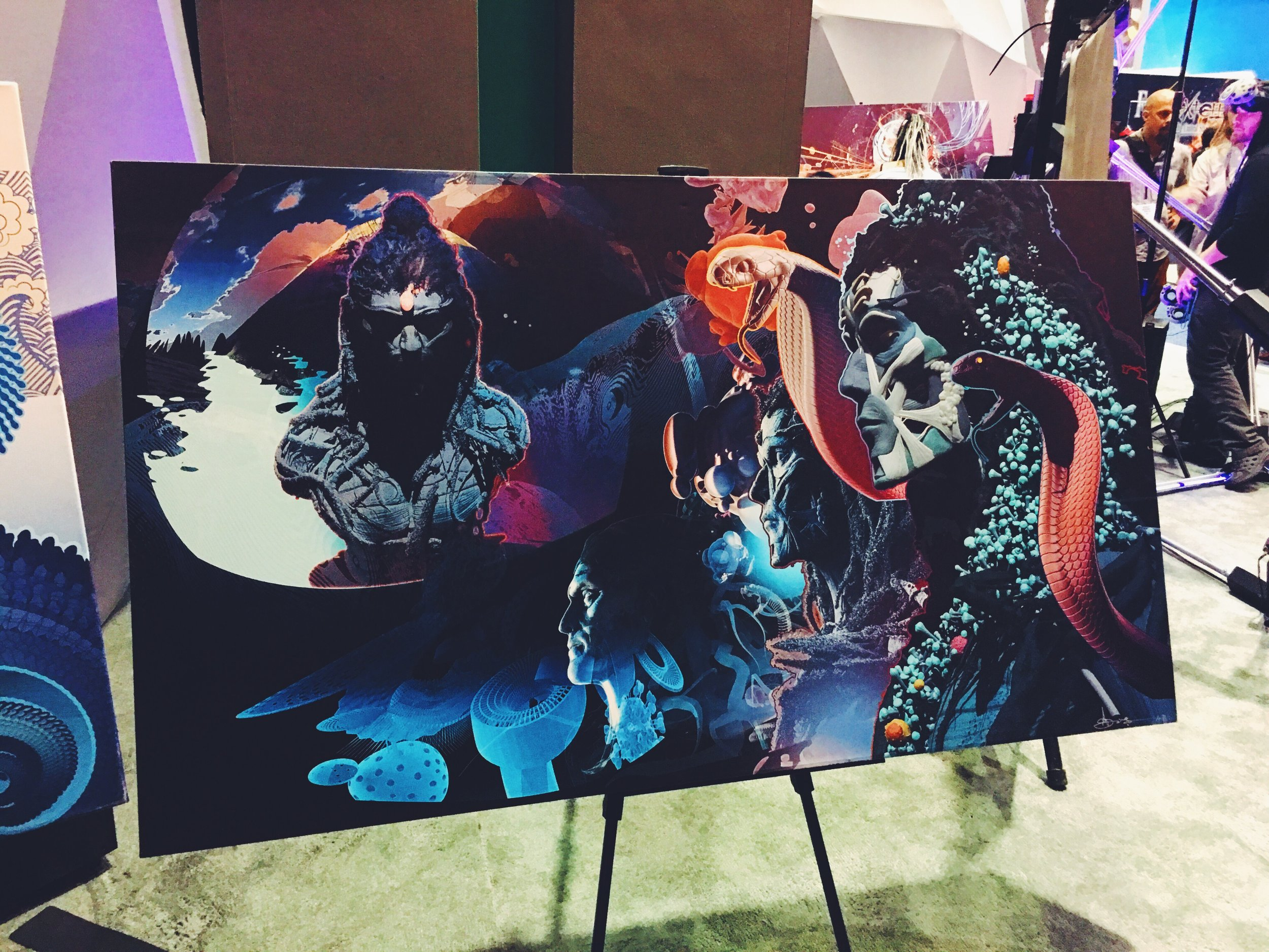 Some breathtaking art on the E3 floor!