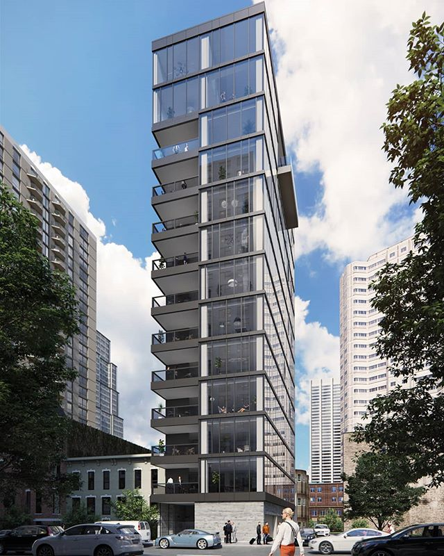 New facade rendering for 56 W Huron. #bogza #3dvisual #3dimagery #kiferbaumdevelopmentgroup