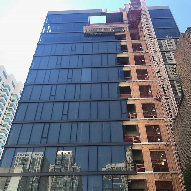 56 W Huron almost fully enclosed. November delivery. #jsir #jamesonsothebys#56WHuron #kiferbaum #kiferbaumdevelopmentgroup  #realestate #newconstruction
