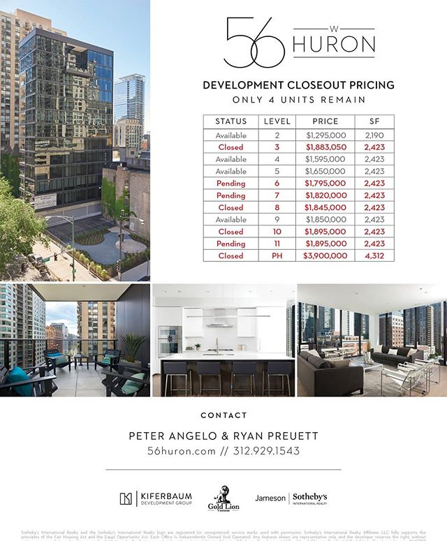 Only four units remain please contact me for a showing. #56huron #jamesonsothebys #jsir #development #newconstruction #kiferbaum