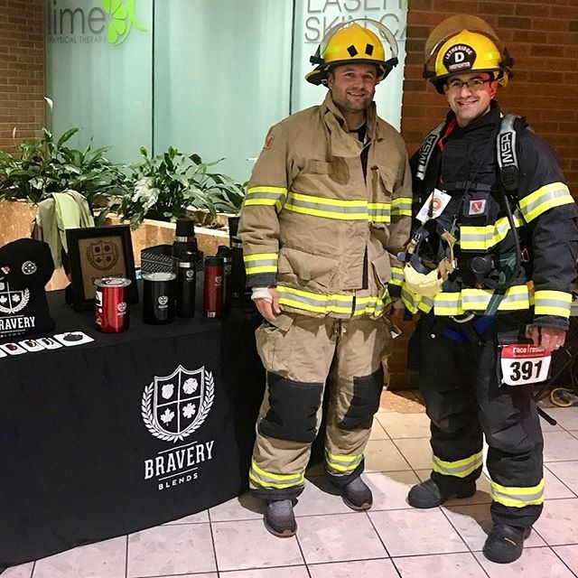 We climb because THEY climbed ❤️🚒🚑🚓 9th annual 9-11 Memorial Stair Climb #brewforthebrave #weremember911 #stairclimb @lethbridge_fire_ems @thevinko