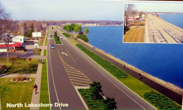 Rendering of Lake City's approved plan for Highway 61/Lakeshore Drive. Construction will begin in 2020.