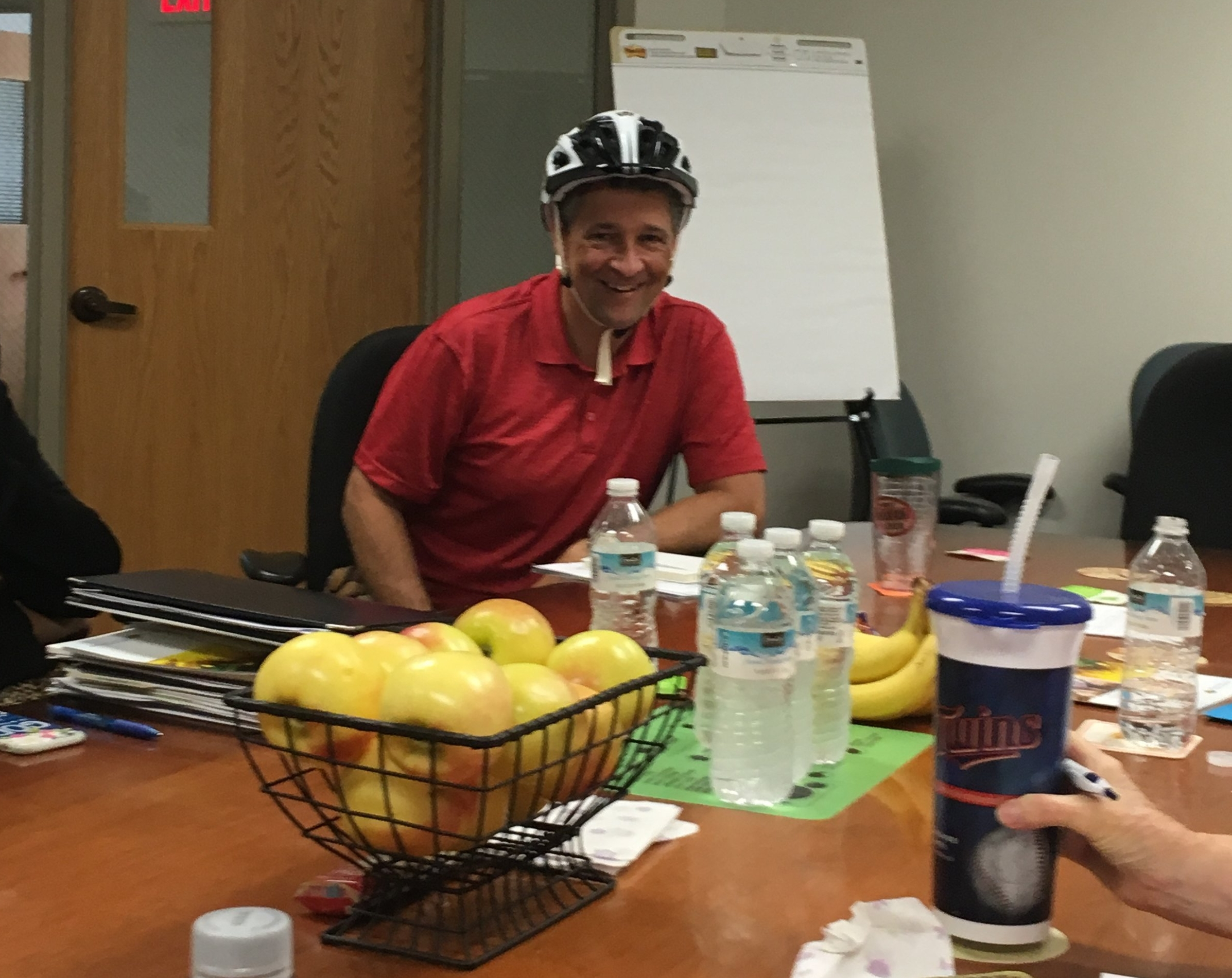 SHIP represented - Pastor David Knox using active transportation to attend the WCFAN meeting.
