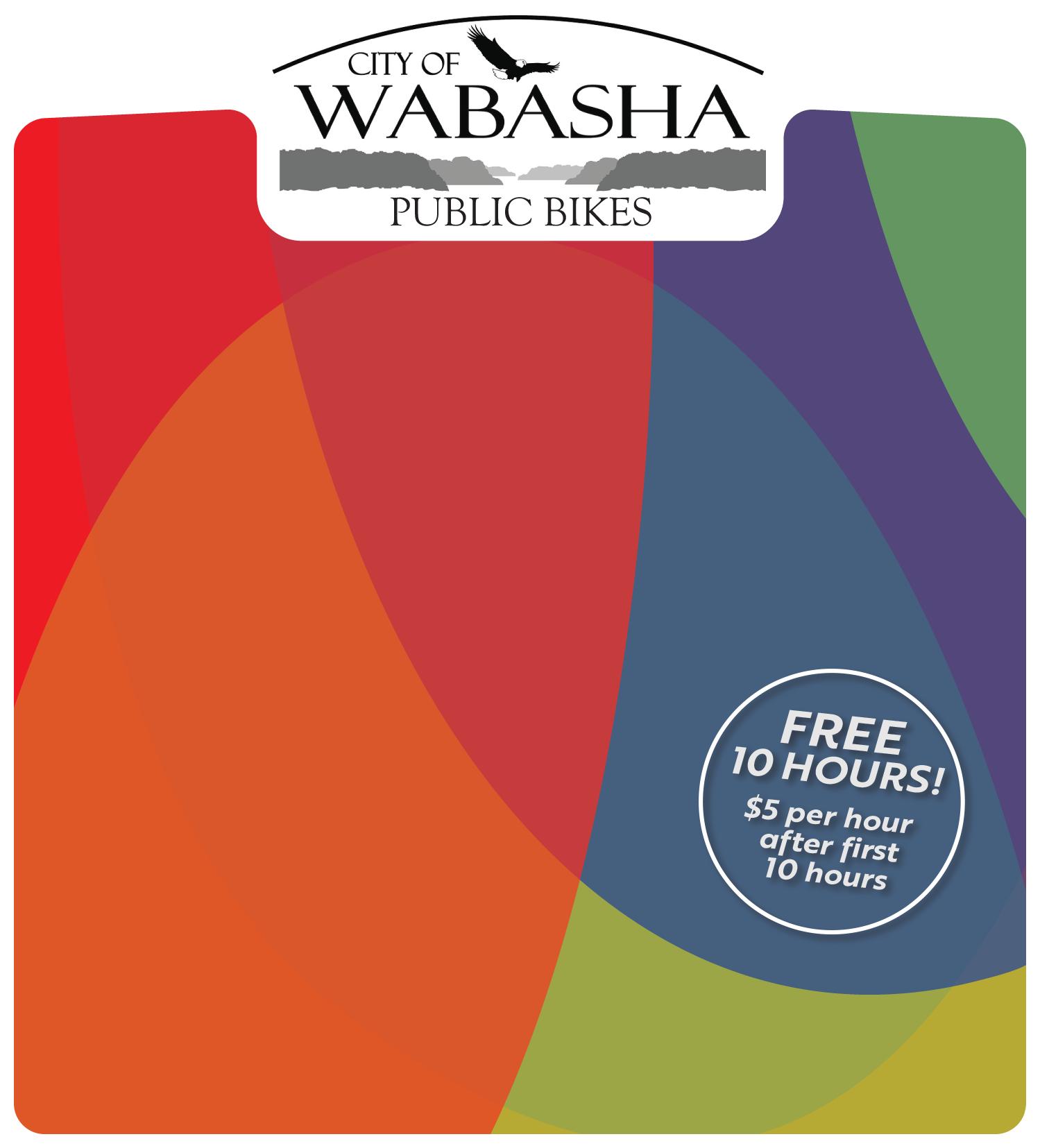 May 2019 - Wabasha's NEW Public Bikes kick-off on June 14, 5-7 pm!