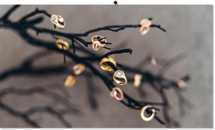Custom designed wedding rings