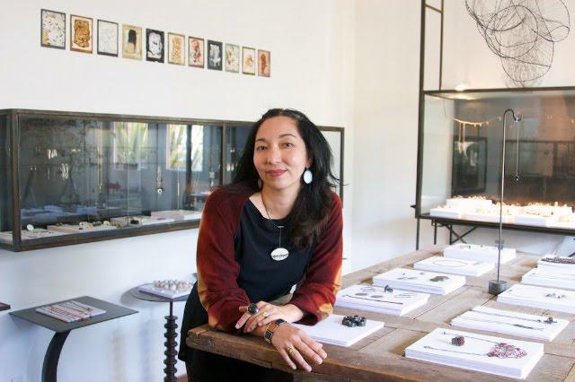 April Higashi in Shibumi Gallery / photo credit ~ Jaymie Scott