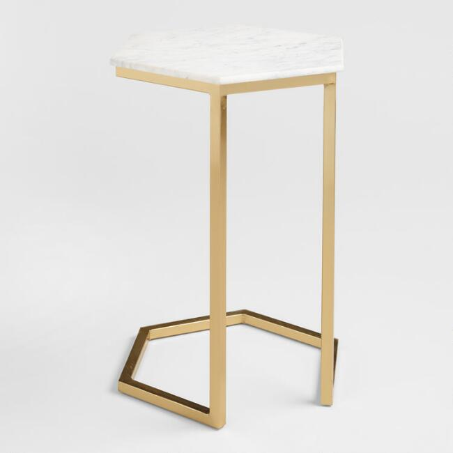 Marble & Gold Margaux Laptop Table