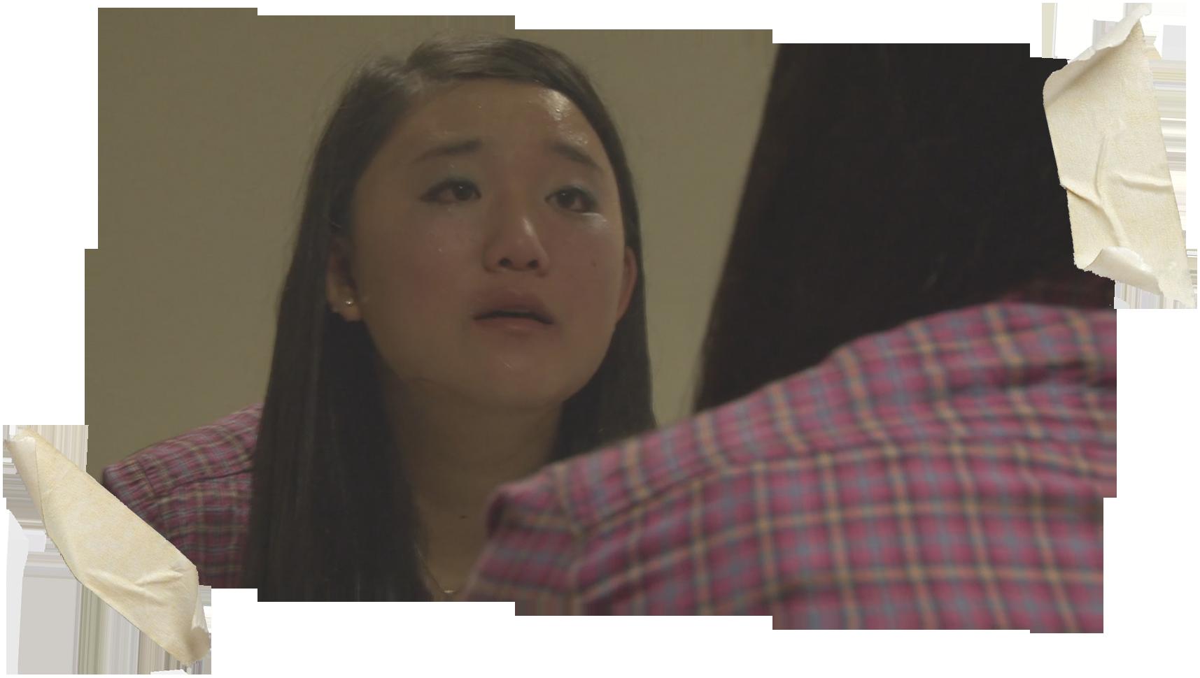 "Still from short film ""How to Look"", Dir. Kathy Liu, Miya Kodama as Miriam"