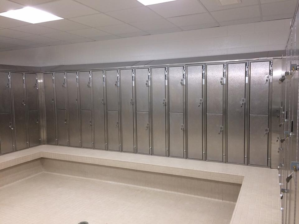 Stainless Steel locker installation