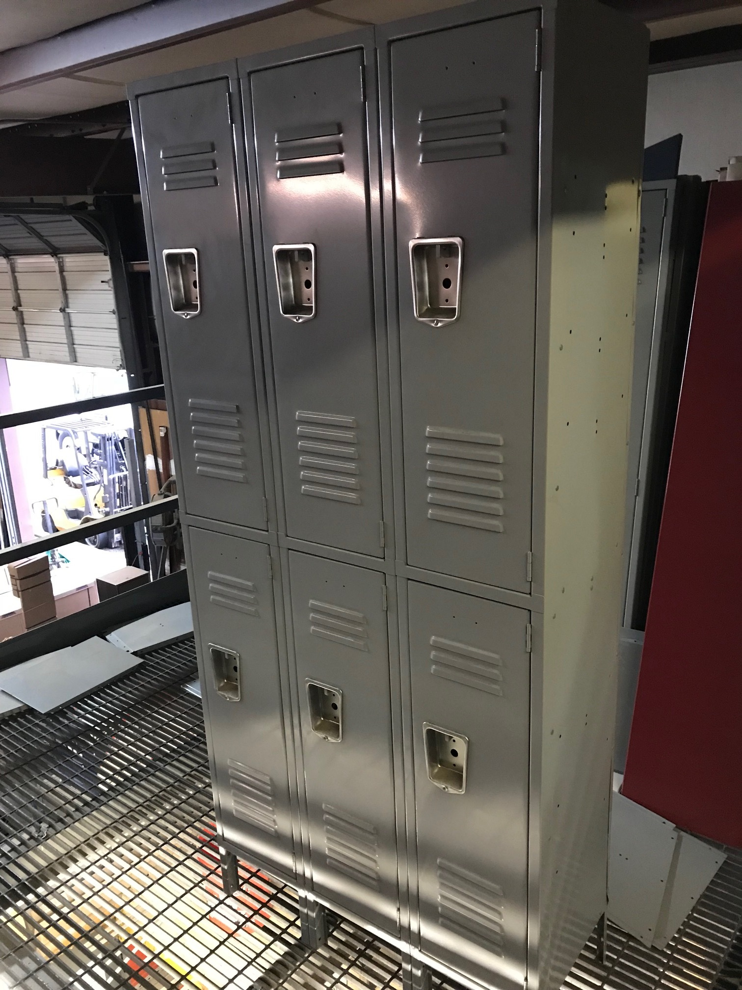 3 Wide Double Tier Locker w/ legs  36w15d78h $295.00