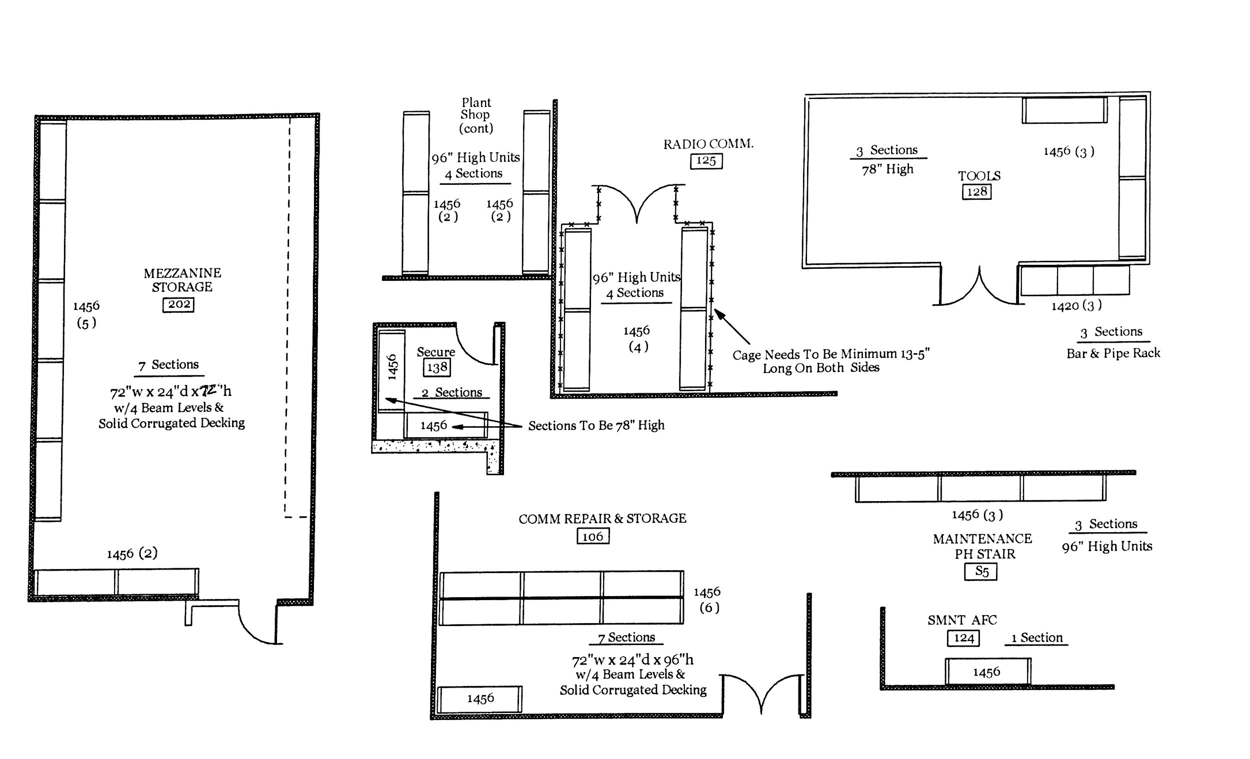Layout for other warehouse sections.
