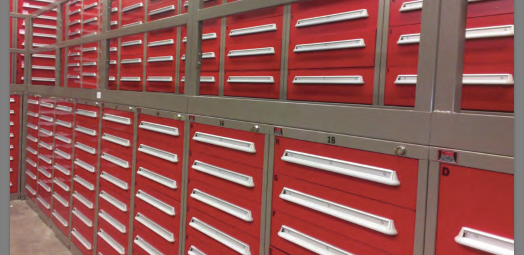 Modular Drawer cabinets - Supply, design and installation by Steiner B. Moore Corp.