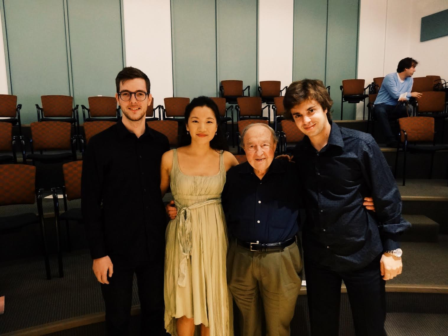 after masterclass with Menahem Pressler