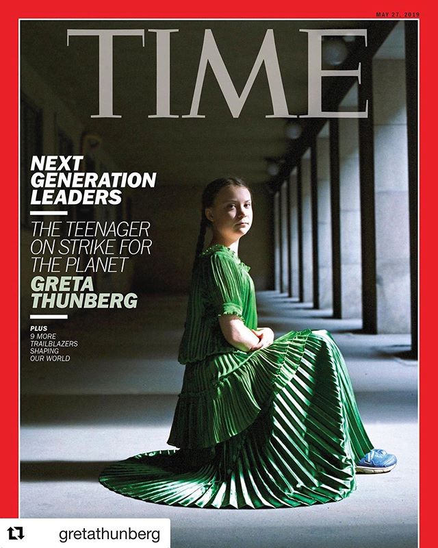 EVERYONE, this young lady @gretathunberg ONE OF MY HEROES, time she became yours too!  We got 11 years folks! We've sucked the crap out of mostly everything, time to learn, listen, read and take action!!l!! #fridaysforfuture #schoolstrike4climate #climatechange #teachtheadults #dontbeselfish #careforourplanet #careforyourfuture  #Repost @gretathunberg with @get_repost ・・・ I'm on the cover of @TIME Magazine. Link in bio!