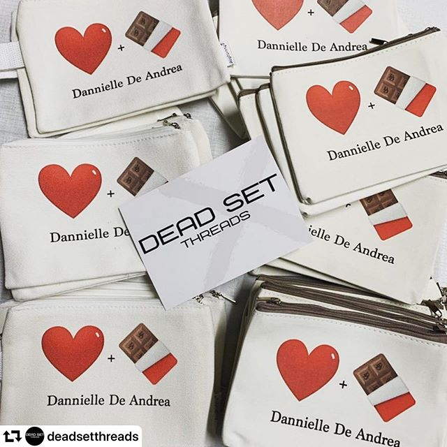 Best new merch, made by my besties!!! @deadsetthreads ❤️ so excited for tonight! #repost @deadsetthreads ・・・ Some merch for @dannielledeandrea for her upcoming Australian shows! First one this Saturday @thefyrefly in St Kilda! 🎶🎤❤️ #loveandchocolate #directtogarmentprinting #customprintedapparel