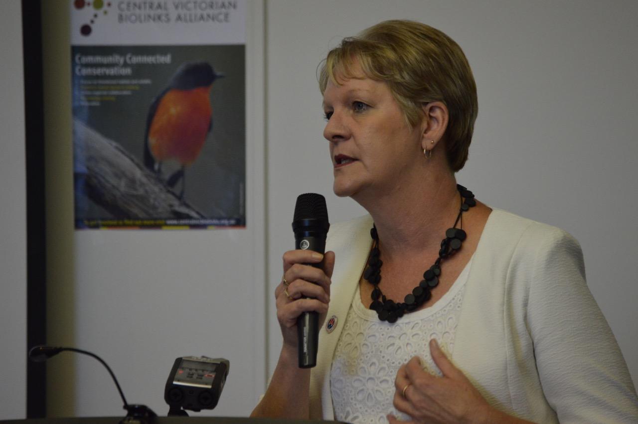 Maree Edwards MP for Bendigo West speaking at the launch of CVBA