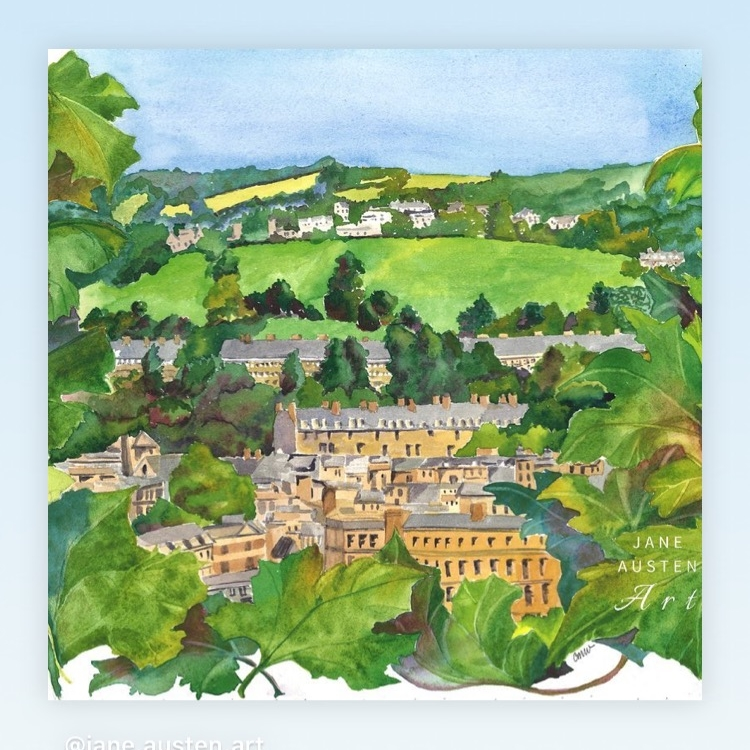 A view of the city of Bath.