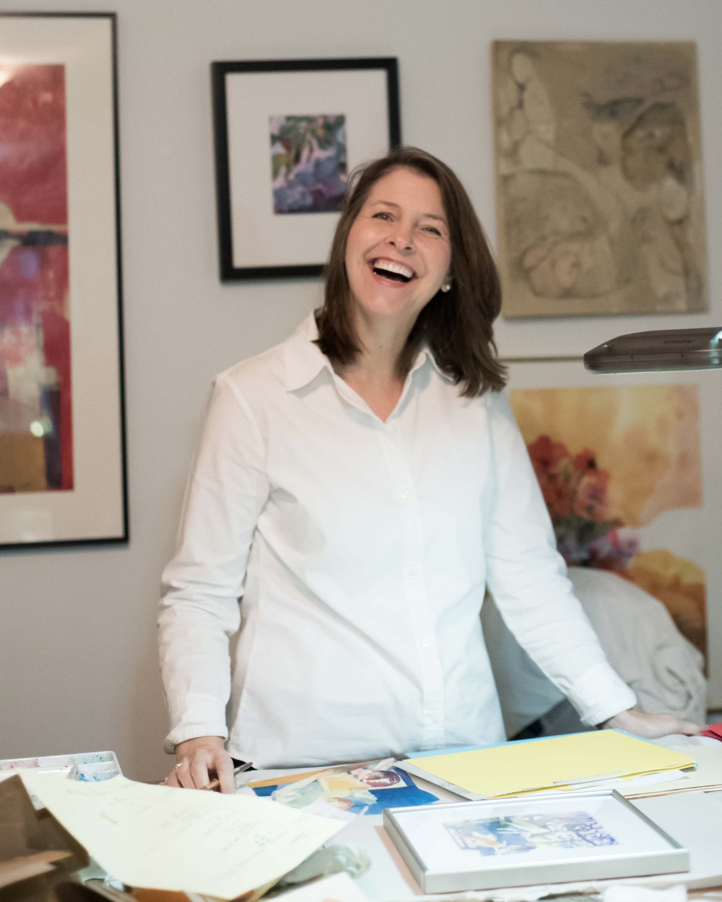 Carolyn welcomes you to her studio!