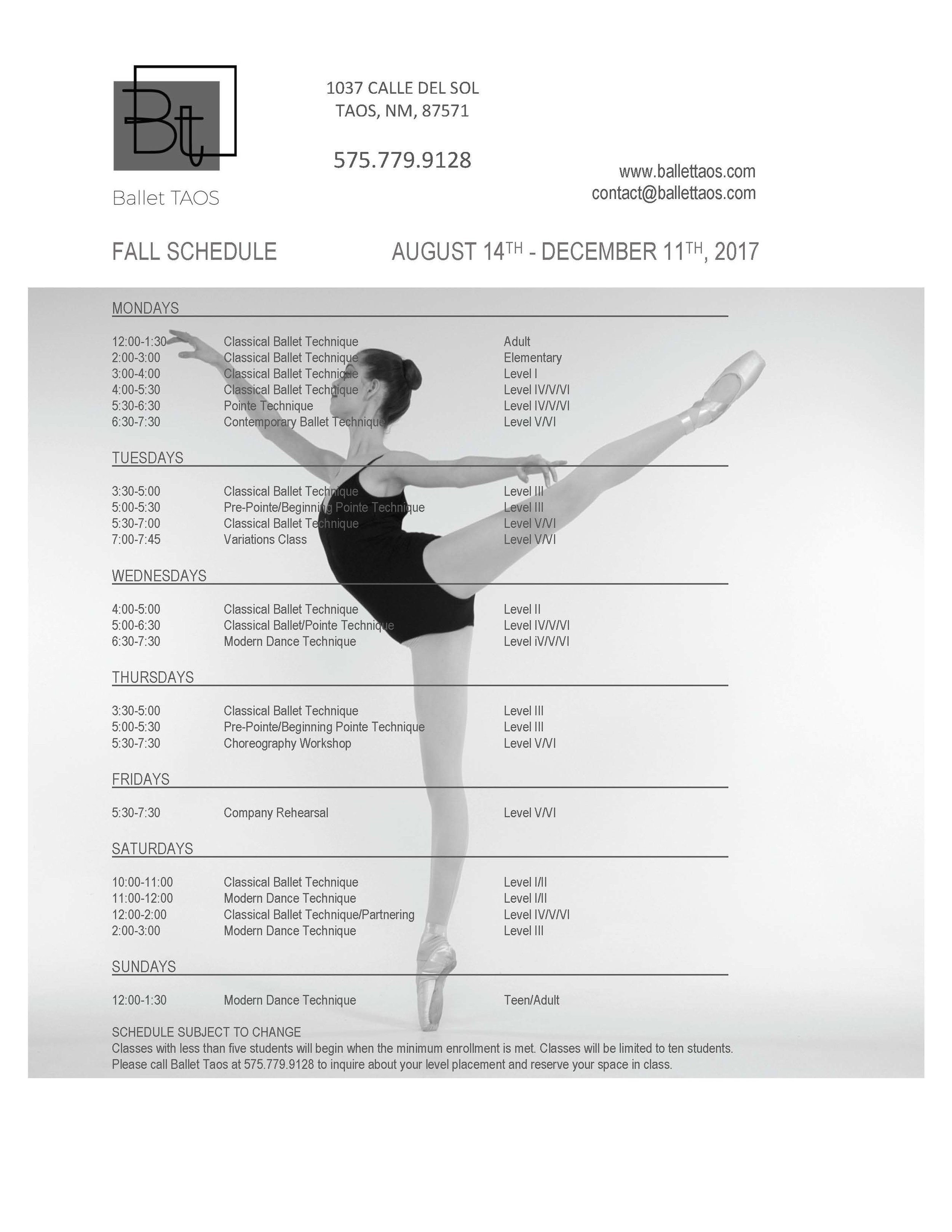 Ballet Taos Fall Schedule 2017 August 14th (no instructors).jpg