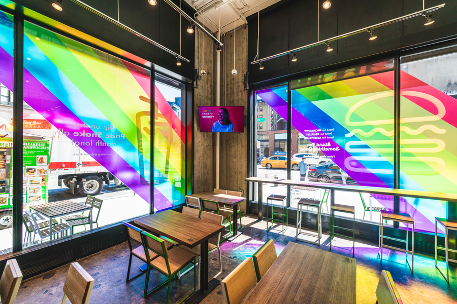 West Village Shake Shack / Vinyl Installations and In-Shack Experience