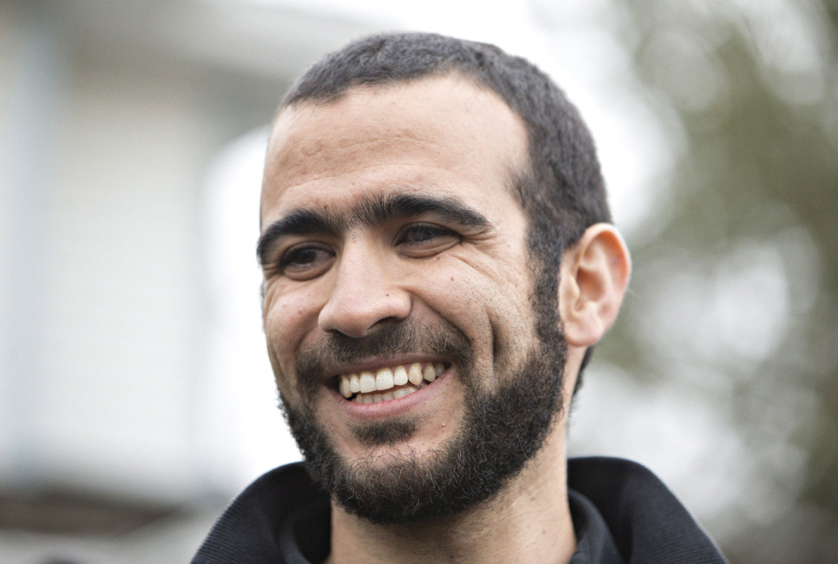 Omar Khadr, following his release from Canadian prison in 2015//AFP