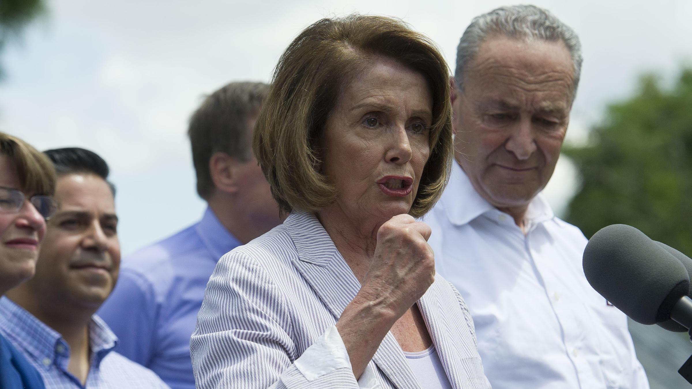 House minority leader Nancy Pelosi in Berryville, VA//AP