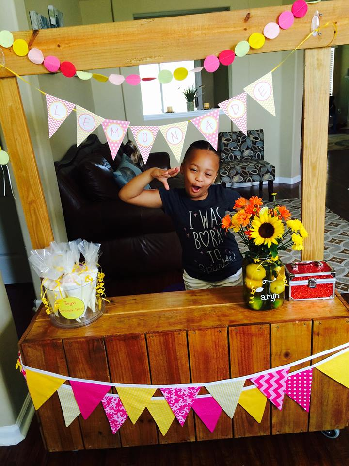 wooden lemonade stand