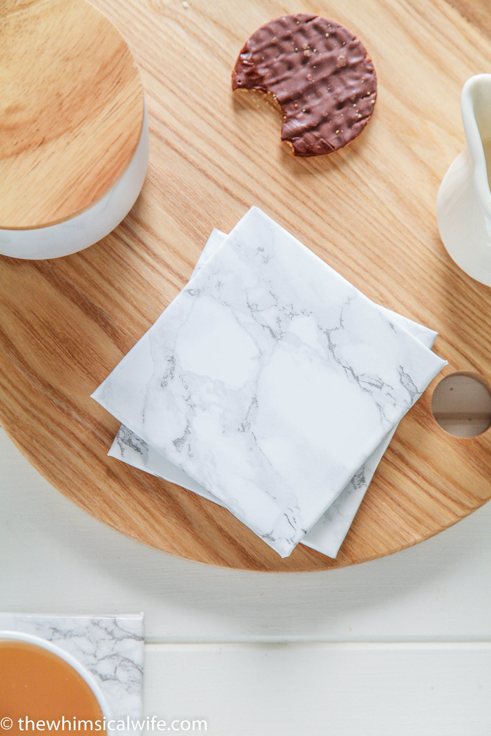 Diy Marble Coaster Hack Video The Whimsical Wife Cook Create Decorate
