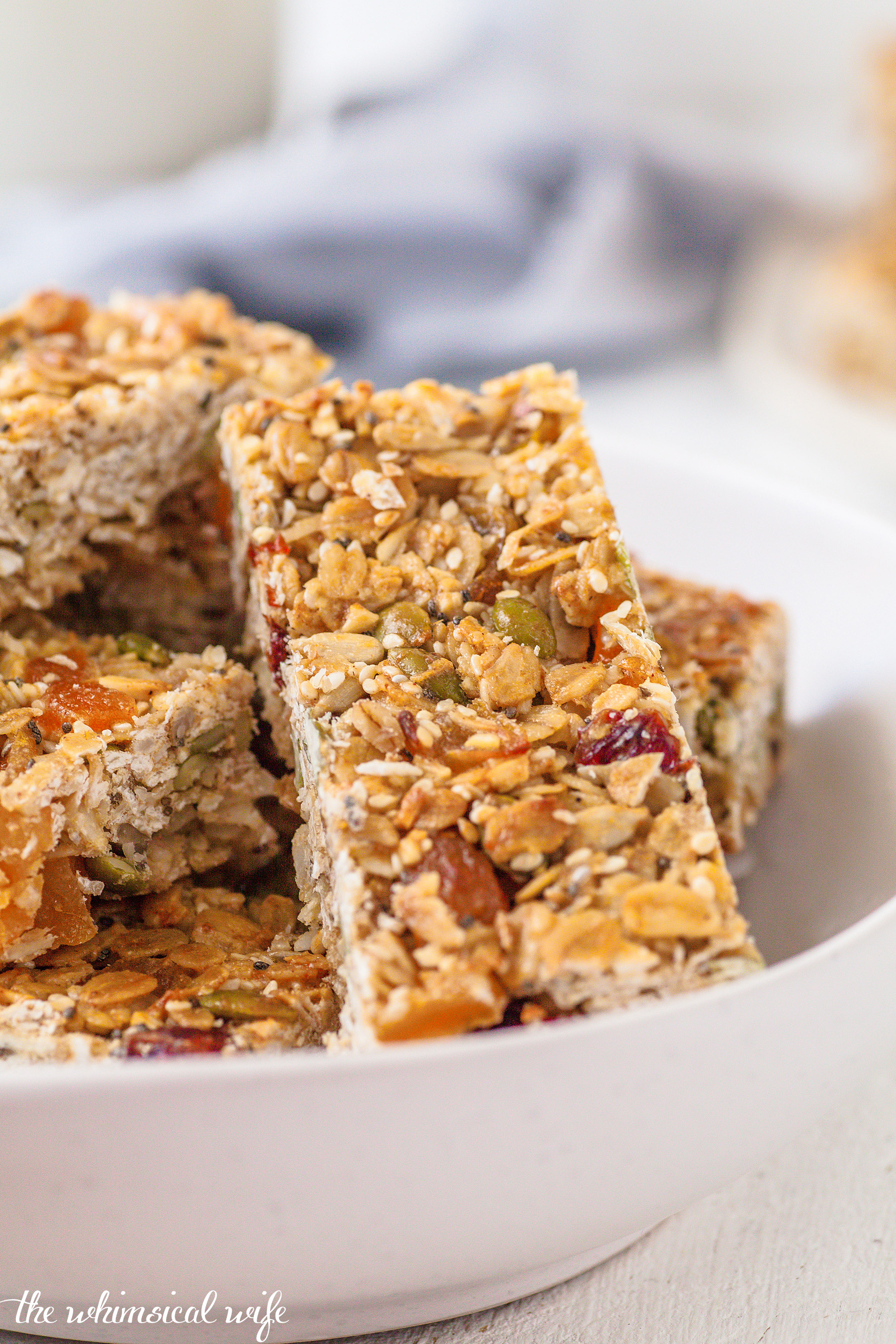 Back To School: Chewy Apricot, Cranberry & Coconut Muesli Bar (Nut & Dairy Free)