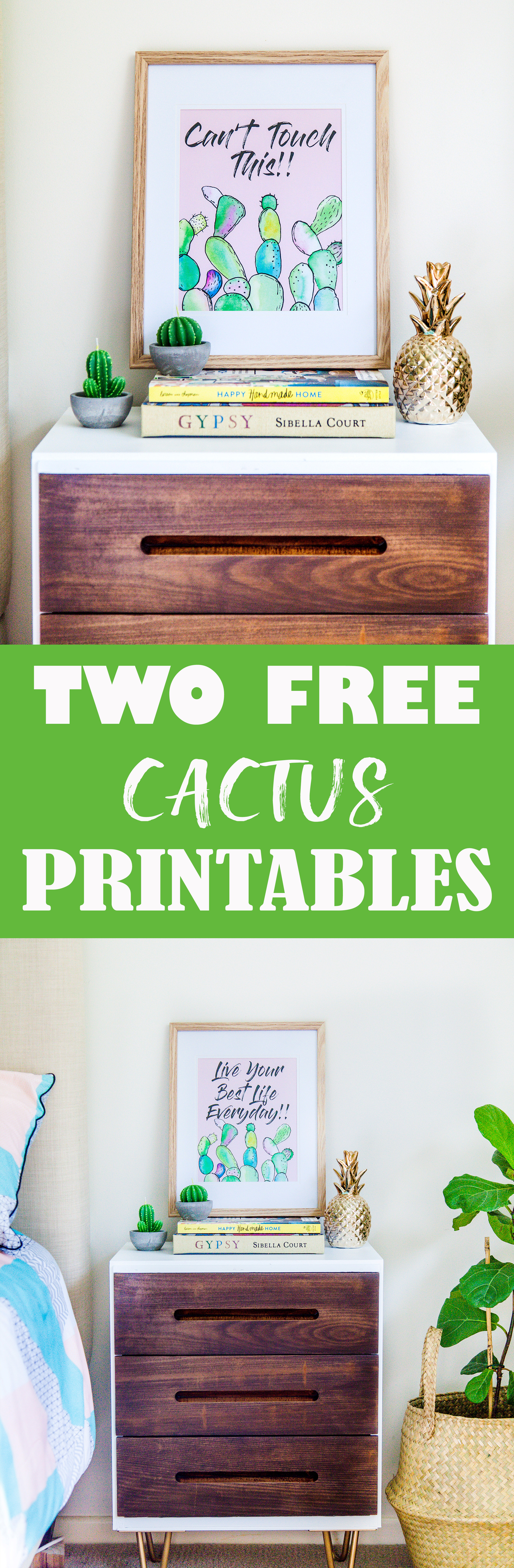 Download TWO Free Cactus Printables!