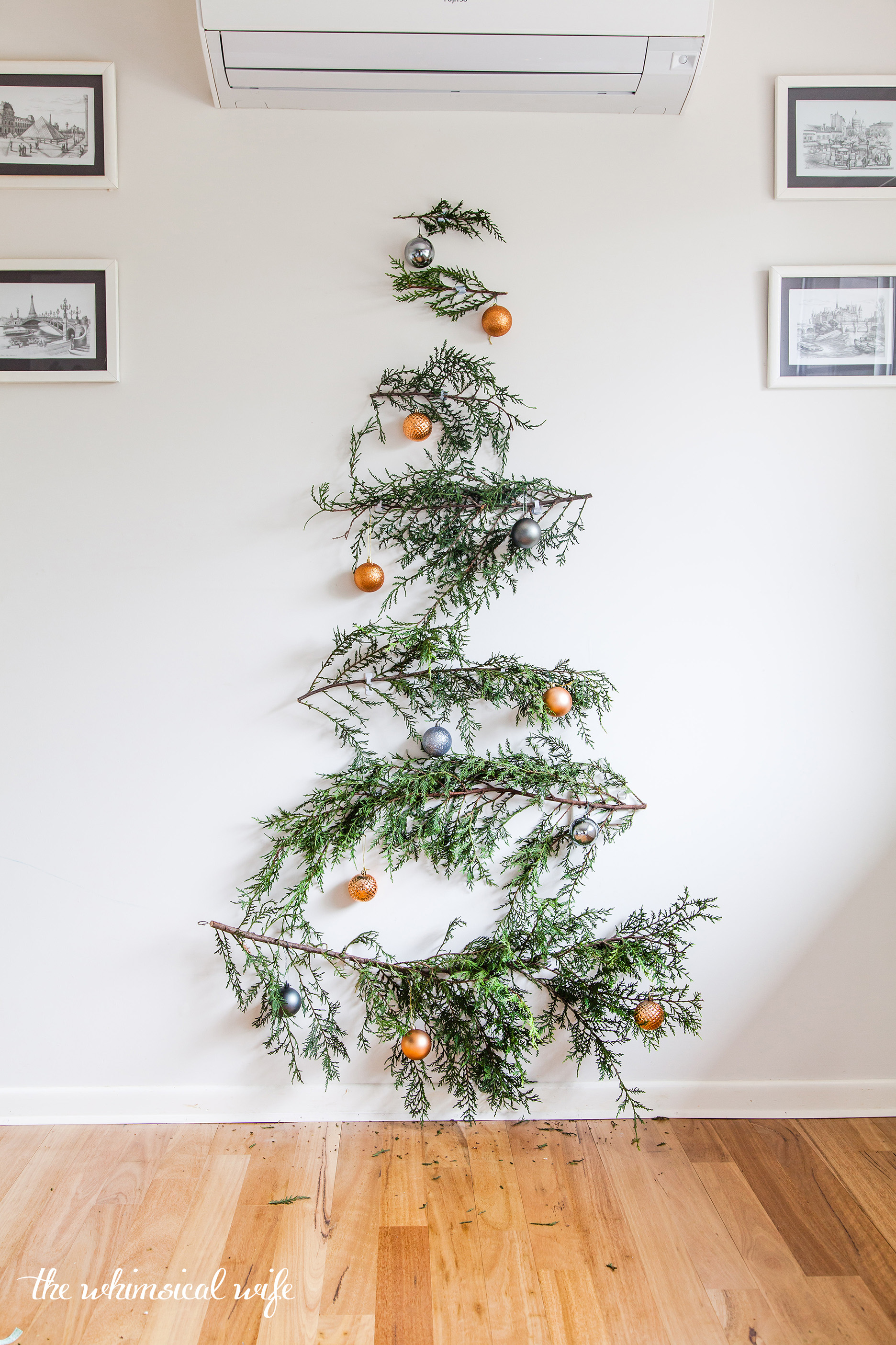 Quick & Easy DIY Pine Branch Christmas Tree