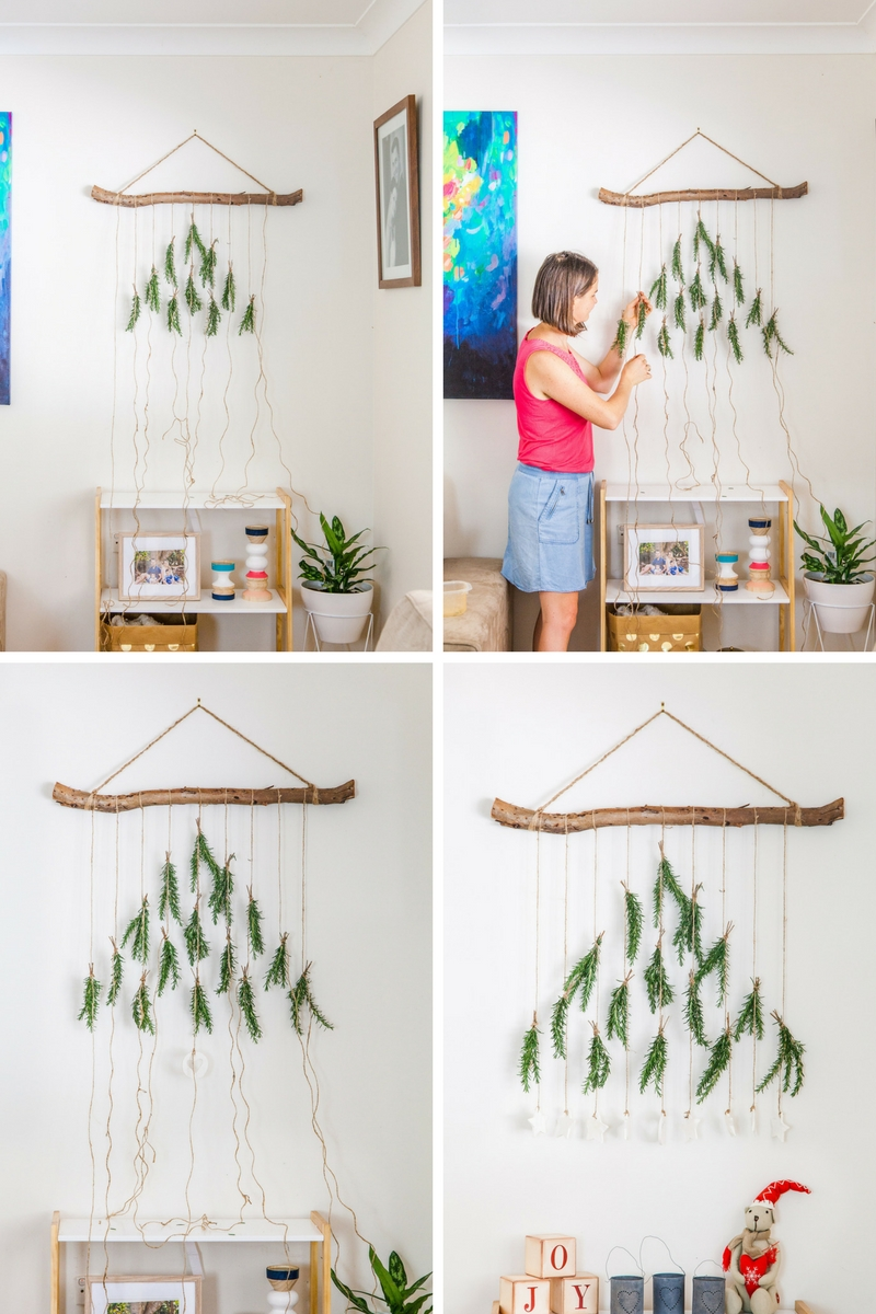 Diy Boho Christmas Tree Wall Hanging The Whimsical Wife Cook Create Decorate