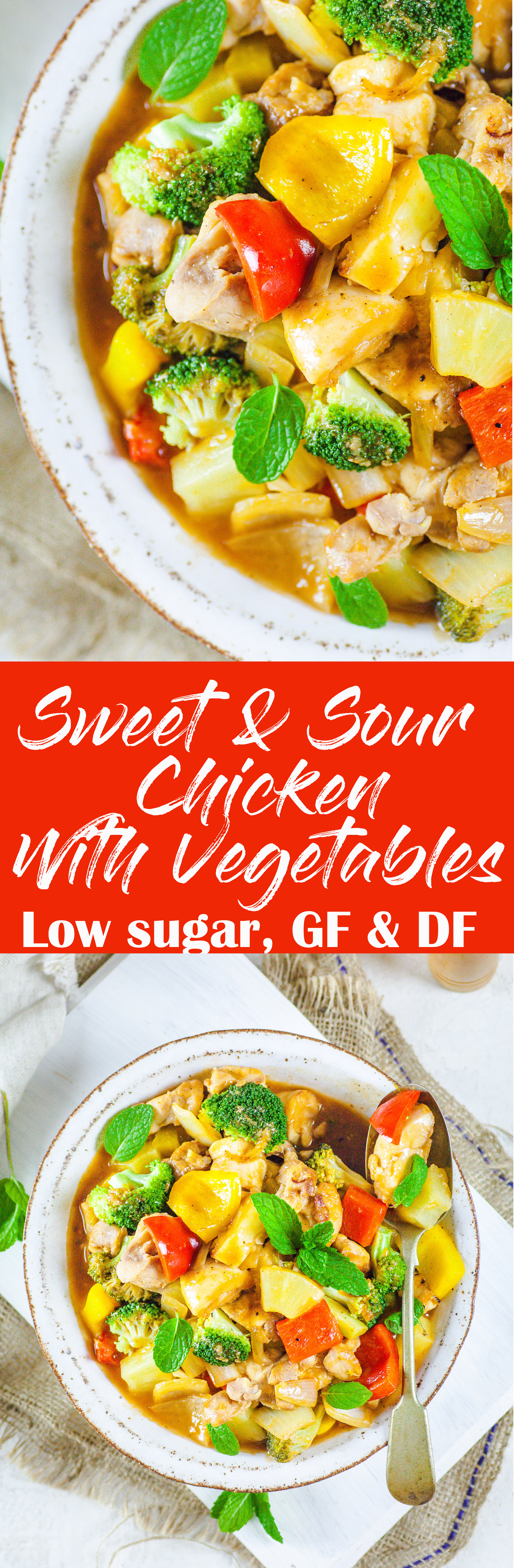 Healthy Sweet & Sour Chicken With Vegetables