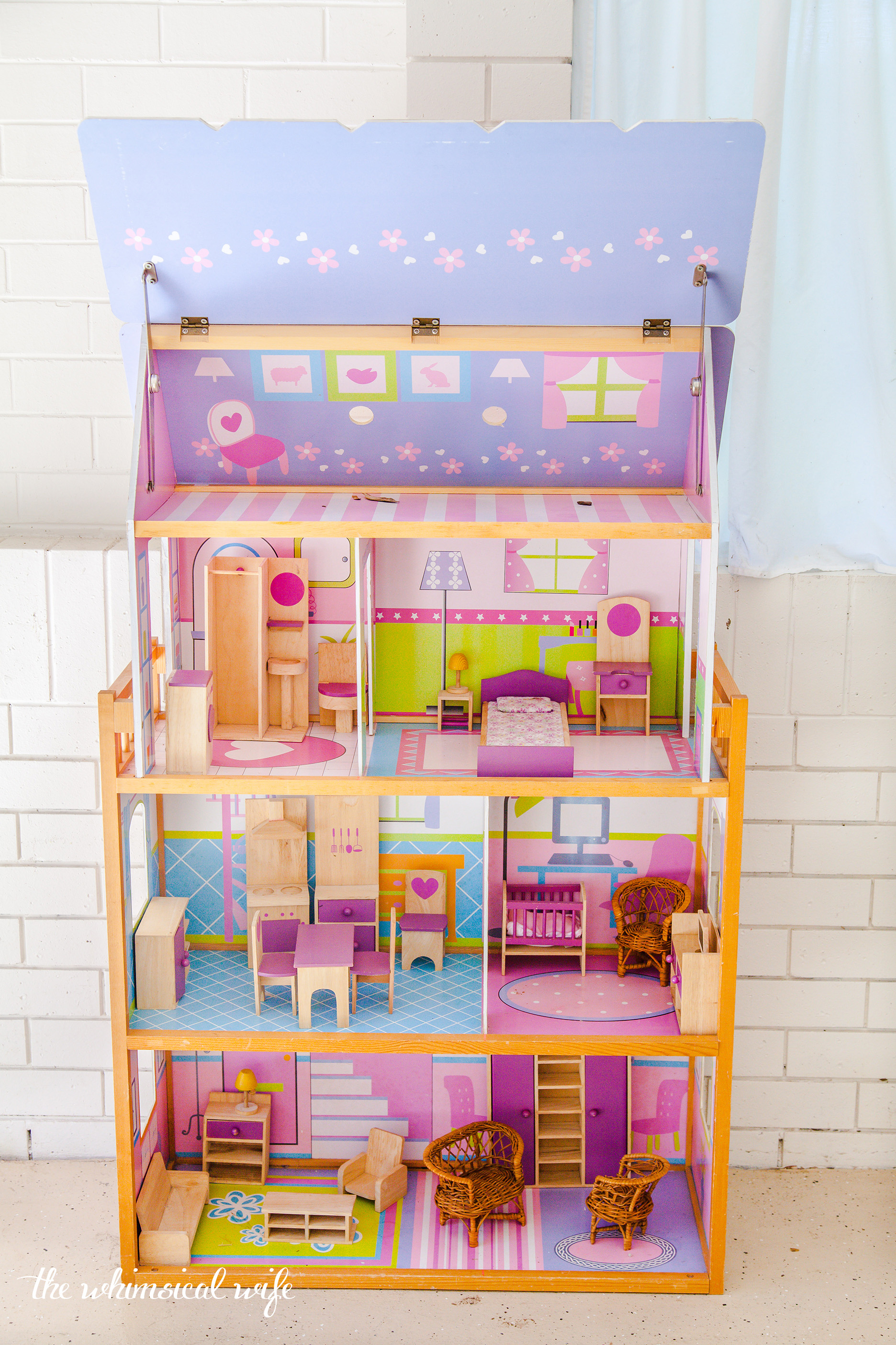 My Fixer Upper Style Dollhouse Makeover | The Whimsical Wife