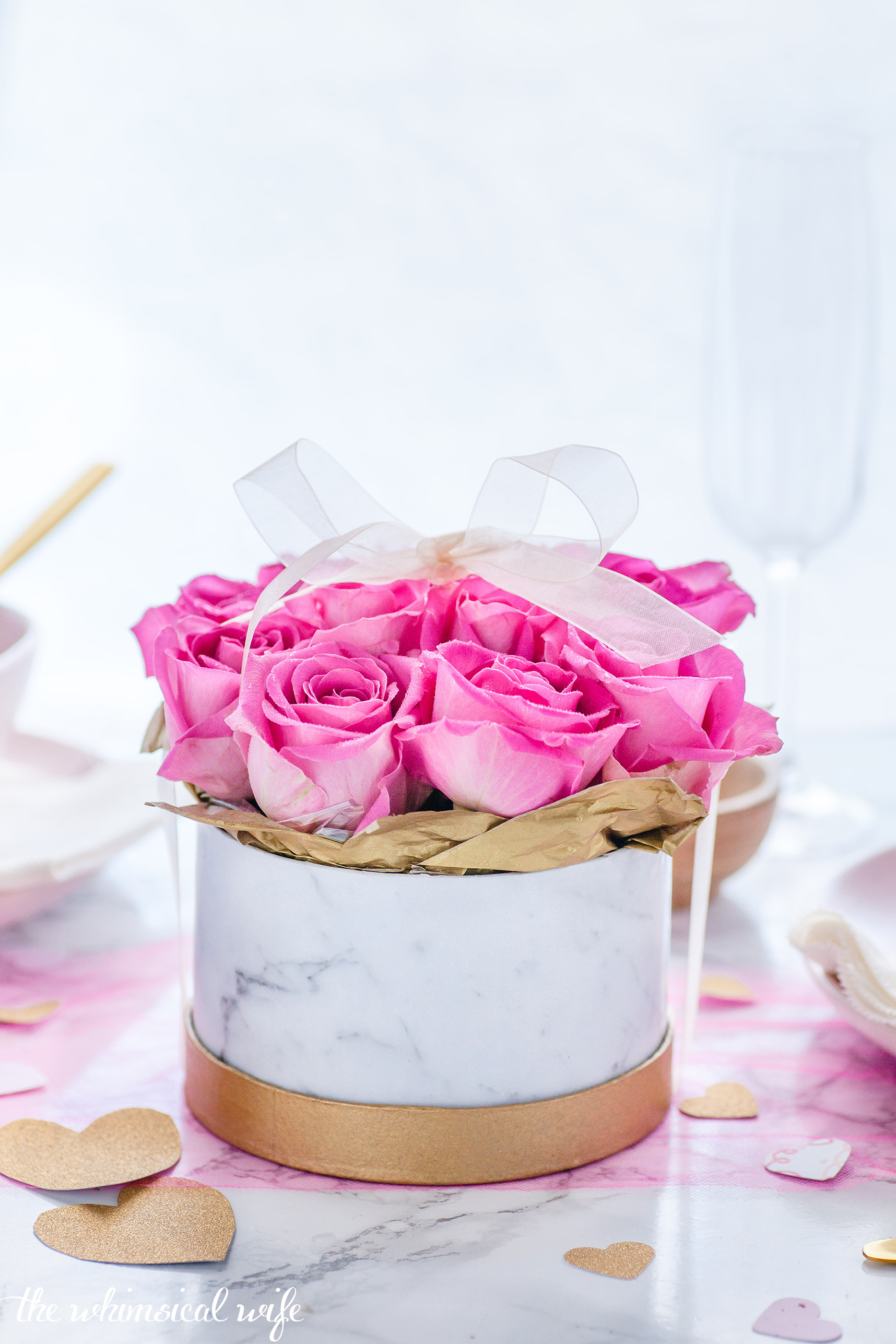 DIY Boxed Valentines Roses + Video | The Whimsical Wife