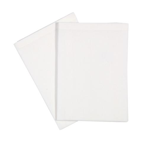 2 White Napkins