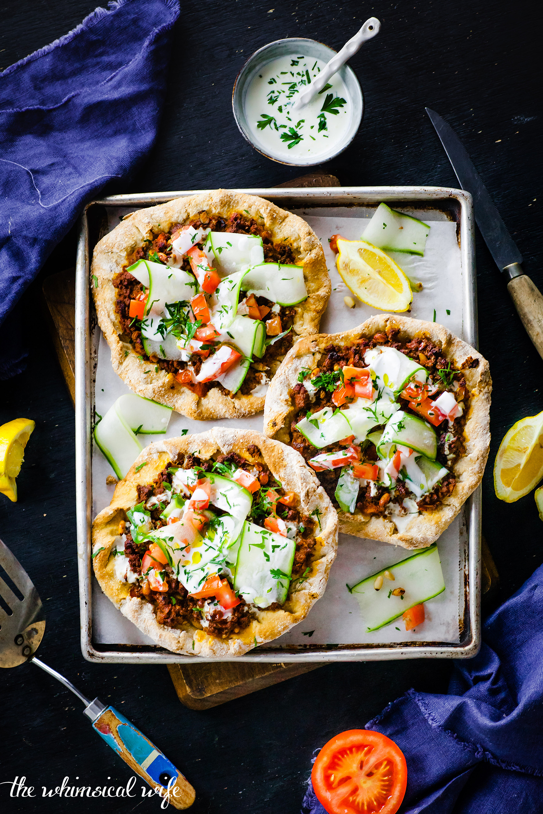 Mini Turkish Pide Pizza | The Whimsical Wife