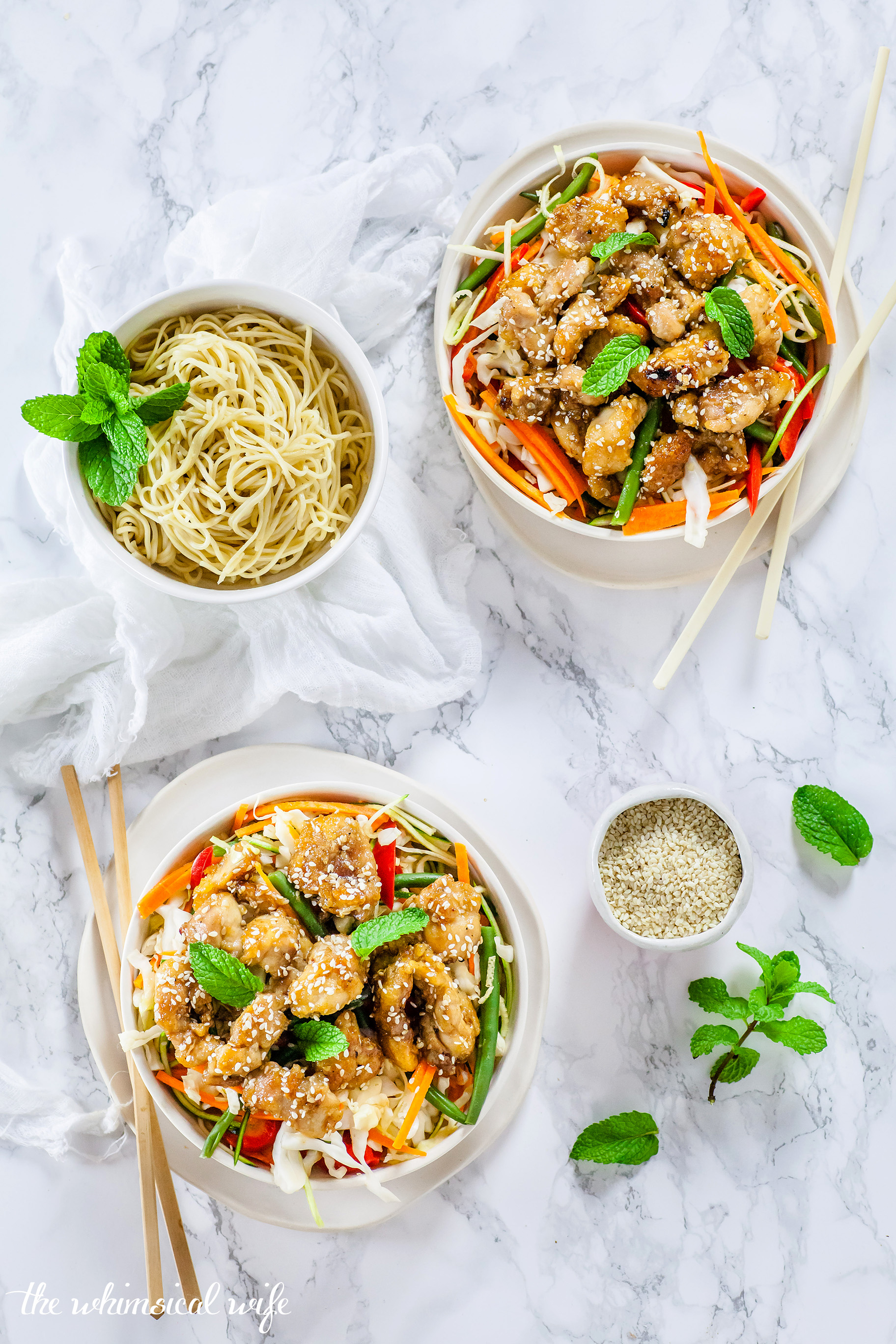 Healthy Honey Sesame Chicken { GF, DF, Nut & Egg Free} | The Whimsical Wife
