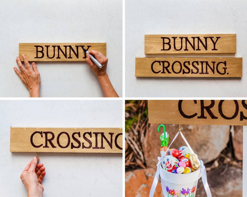 DIY Easter Bunny Crossing Sign | The Whimsical Wife
