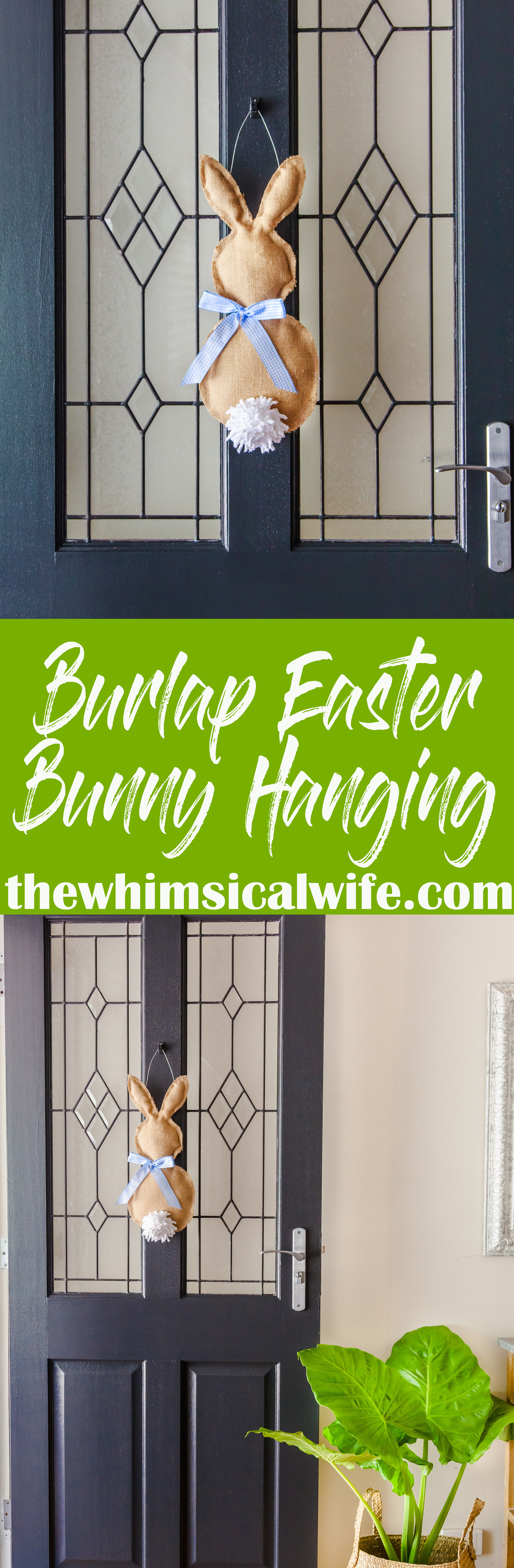 How To Make A No-Sew Burlap Easter Bunny Hanging | The Whimsical Wife