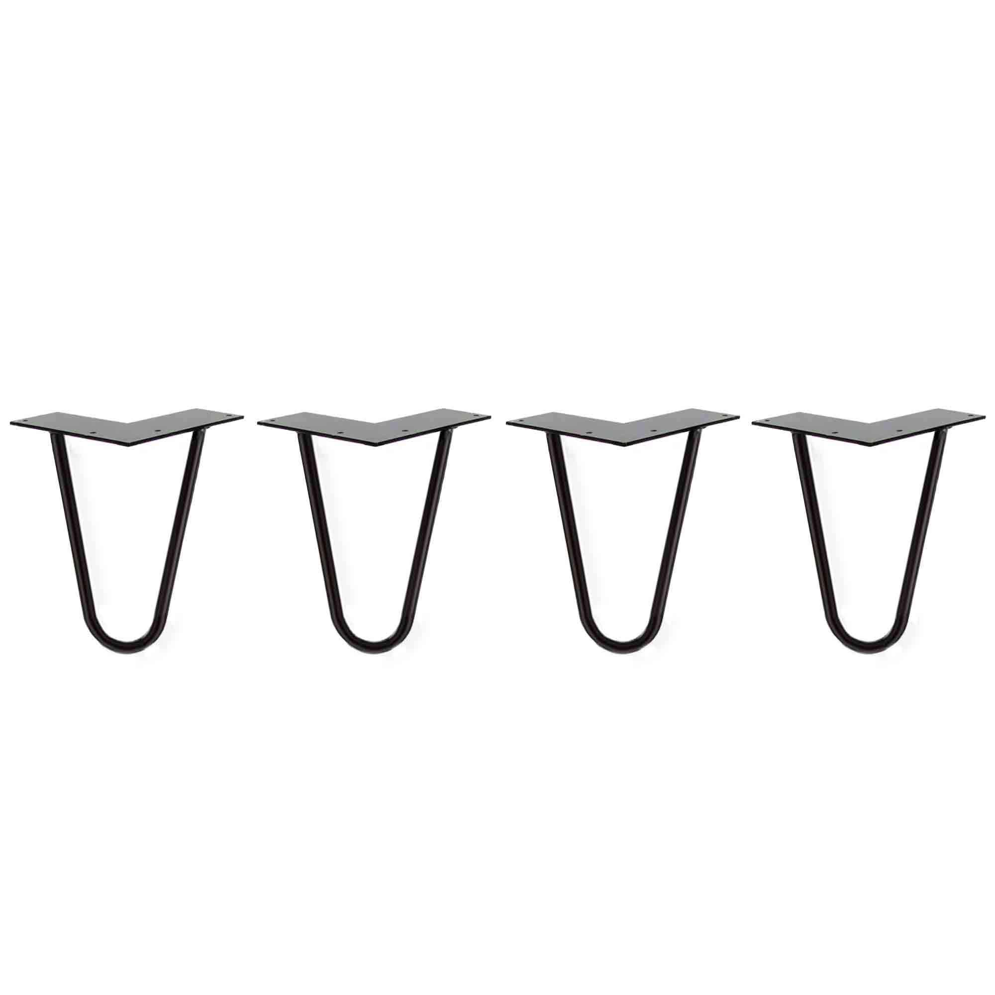 6 Inch Hair Pin Legs - Black