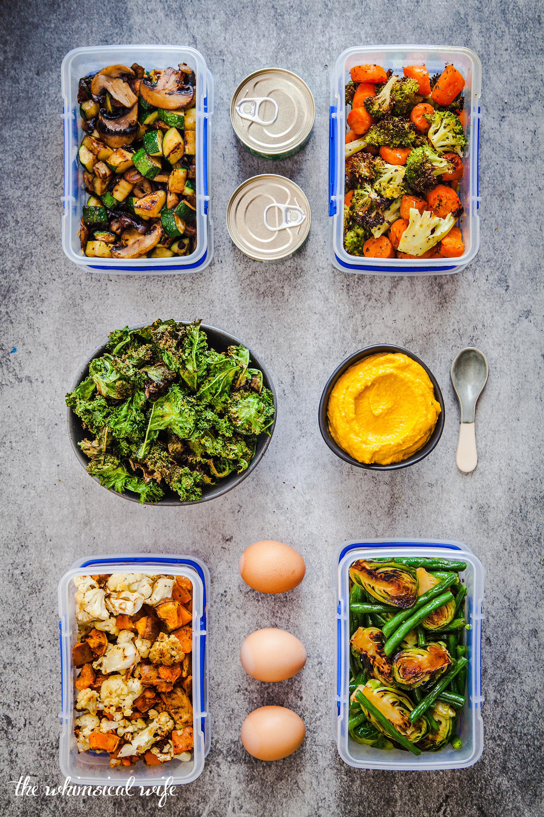 Lunch Edition: How To Meal Prep Your Way To A Healthier You + Free Printable | The Whimsical Wife