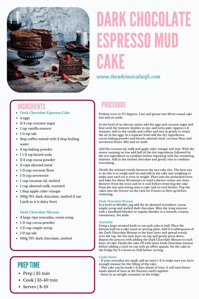 30 Cakes In 30 Days | 1. Dark Chocolate Espresso Mud Cake {GF, DF}