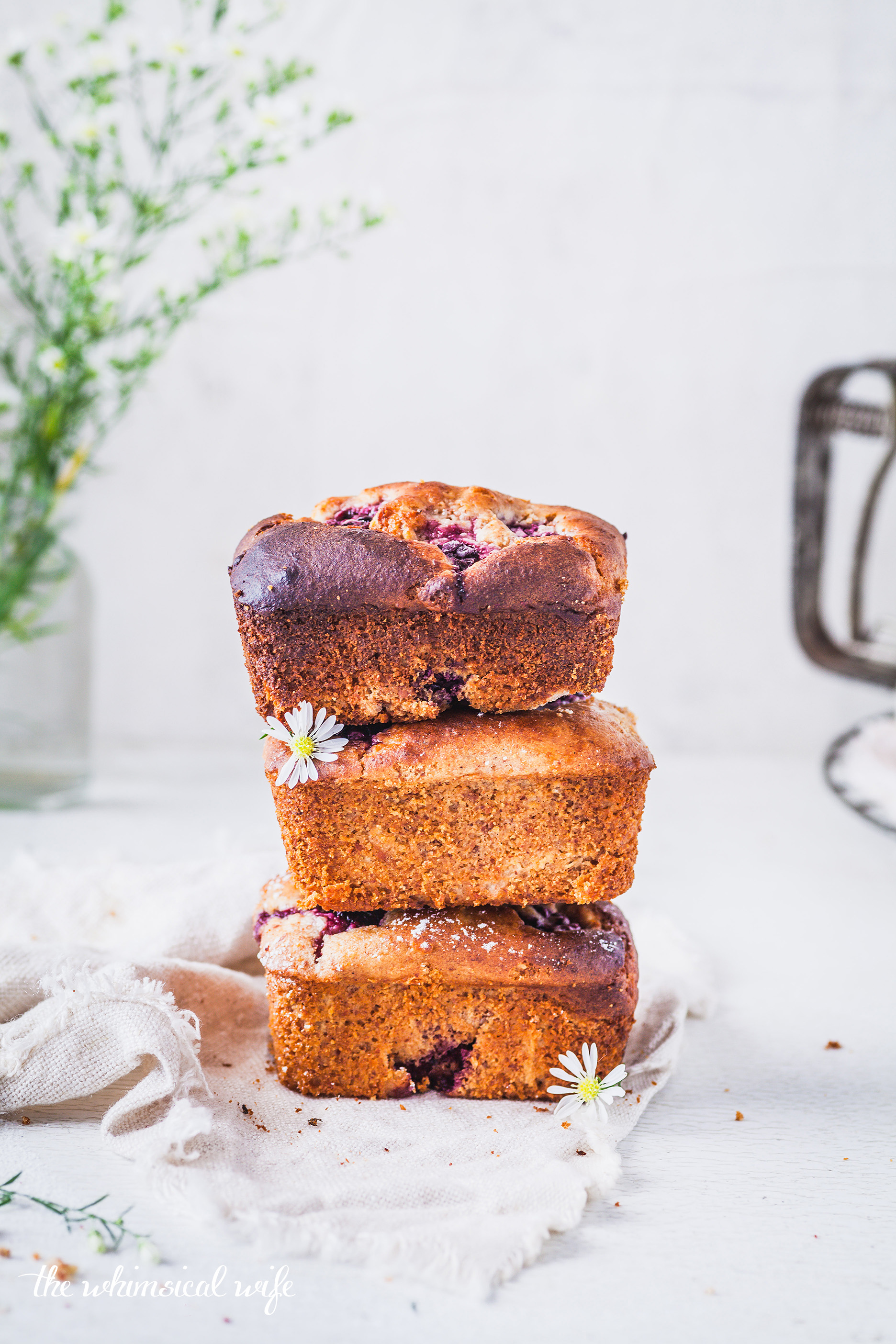 30 Cakes In 30 Days | 3. Mini Blackberry & Apple Loaf {GF, DF, Refined Sugar Free } | The Whimsical Wife